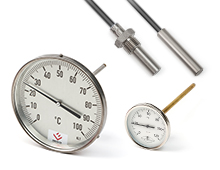 Bimetallic temperature sensors and switches
